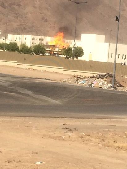 5 وفيات في انفجار خزان غاز بمستشفى الحرس بالمدينة