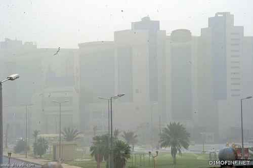 عواصف رملية تشهدها المنطقة حالياً