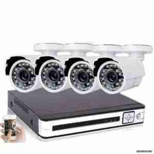 Eagle Outdoor Security Cam - Set Of 4 - 2Mp + DVR 320 GB 4 Channels - 80M Cable