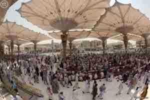 رئاسة المسجد النبوي تهيئ الروضة الشريفة لاستقبال شهر رمضان المبارك