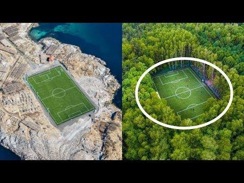 أغرب 10 ملاعب كرة القدم في العالم..!! لن تصدق أنهم موجودون بالفعل