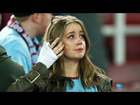 انهيار الجمهور بالبكاء لحضة عزف النشيد الوطني العراقي في ملعب كربلاء الدولي